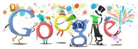 La multi ani 2012 din partea Google