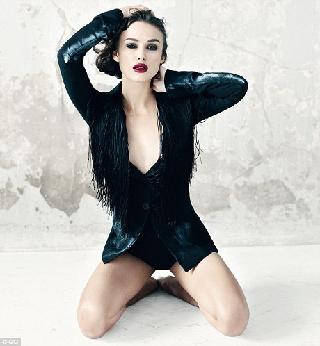 POZE: Keira Knightley a pozat sexy si provocator in cel mai recent pictorial marca GQ!