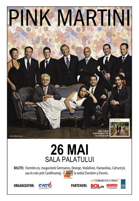 Pink Martini revine la Bucuresti, pe 26 mai
