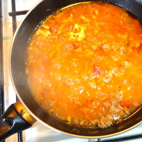 Paste cu sos de rosii si carne aproapre ca la restaurant!