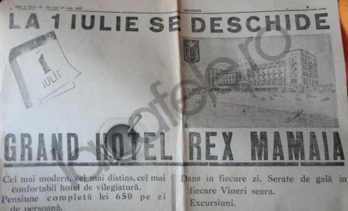 Hotelul REX din Mamaia in anii '30!