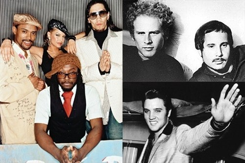Black Eyed Peas VS Elvis si Simon & Garfunkel