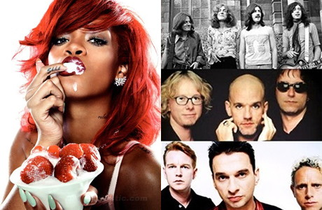 Rihanna VS Led Zeppelin, REM si Depeche Mode