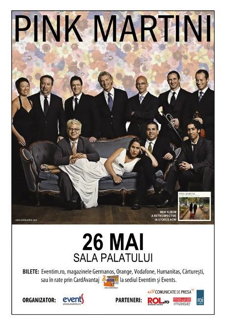 Pink Martini revine la Bucuresti, pe 26 mai