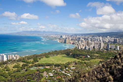 Privelistea pe Diamond Head