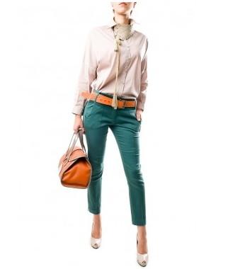 Pantaloni verzi cu buzunare